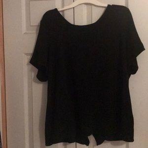 Super cute open back Shirt sleeved shirt